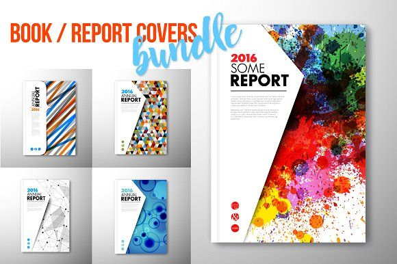 Report Book Brochure Cover Brochures Vector Format And Adobe