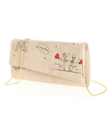 Love this White & Red Newlywed Envelope Clutch on #zulily! #zulilyfinds