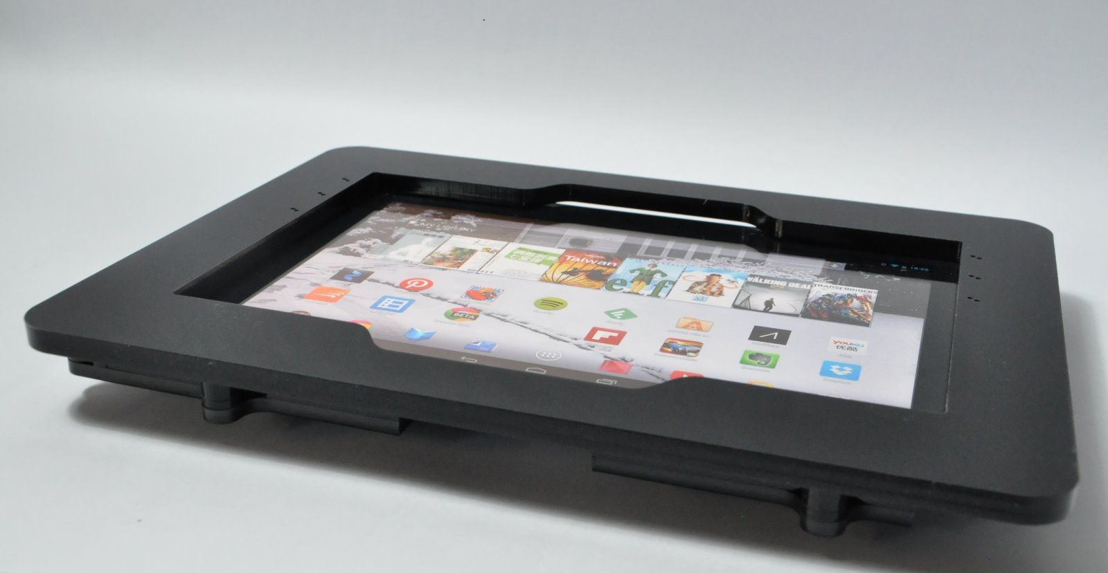 Black Acrylic Enclosure For Nexus 10 Samsung Galaxy Tab 10 1 And Asus Memopad 10 Ebay Tablet Mount Nexus 10