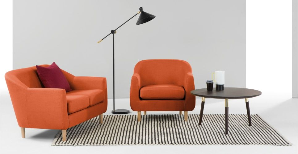 Tubby Armchair, Burnt Orange | made.com | Retro armchair ...