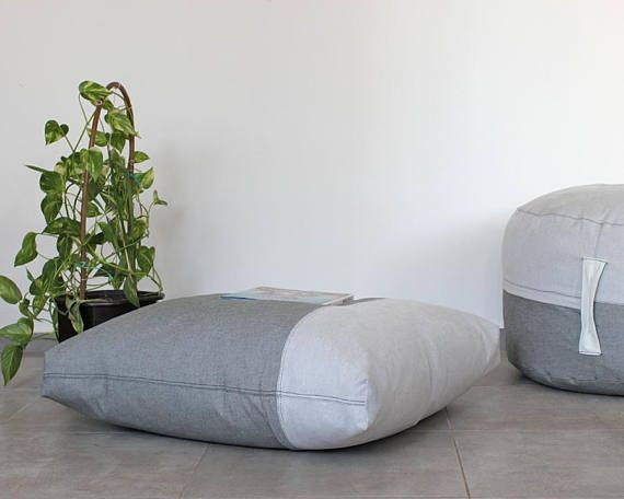 Floor pillow cover Floor cushion Giant pillow Seating | Handcrafted ...