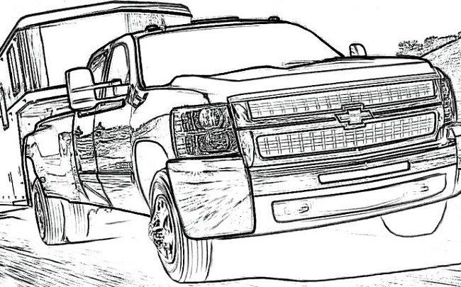 Chevy Silverado Coloring Pages