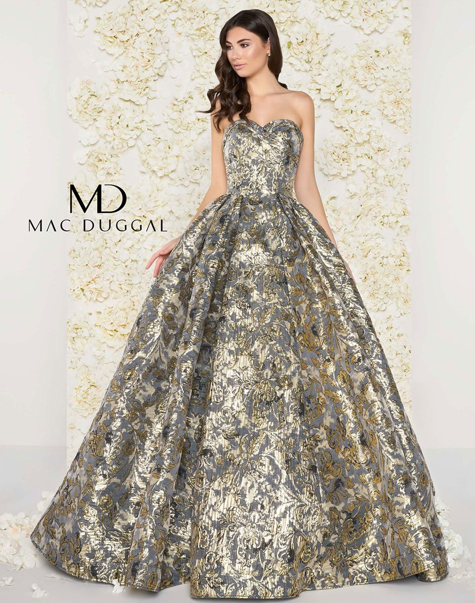 188d1cf5c75 Metallic floral print ball gown