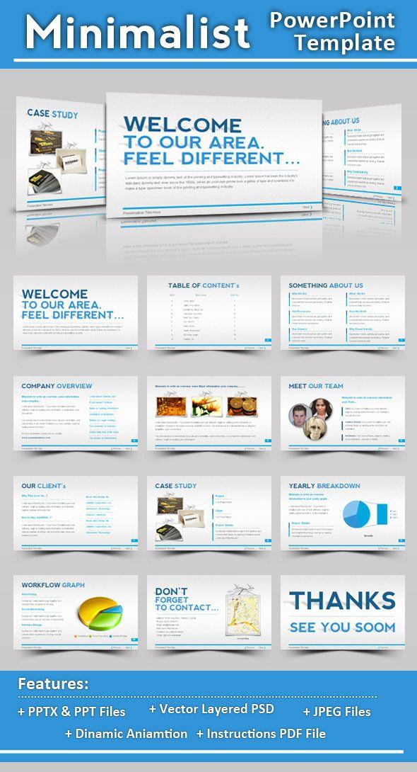 minimalist powerpoint template | minimalist, template and, Presentation templates