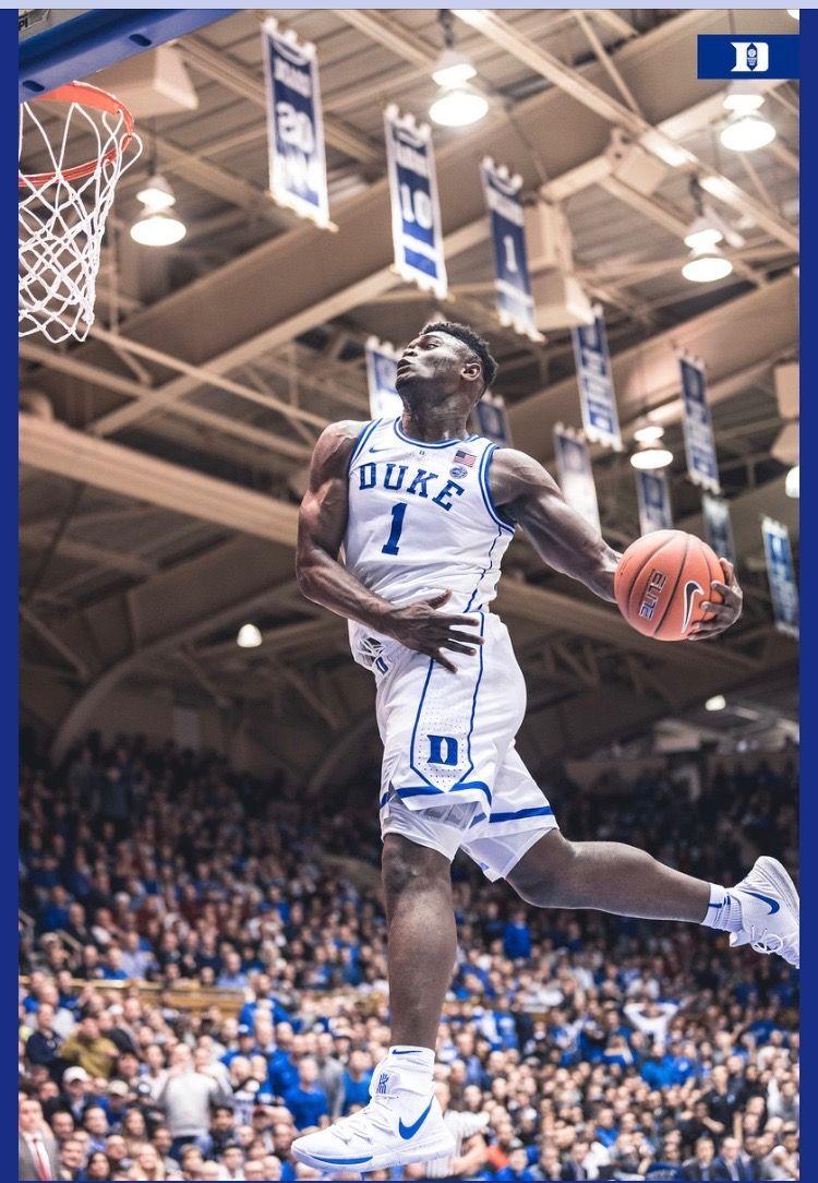 Zion Williamson Basketball Duke Blue Devils Basketball Basketball Pictures