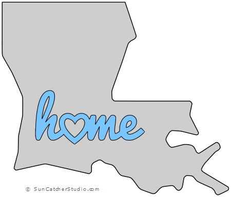 Louisiana Map Outline Printable State Shape Stencil Pattern Louisiana Map Stencil Patterns Templates Map Outline