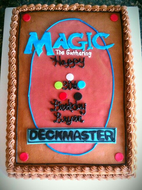Magic The Gathering Cake With Images Magic Cake Nerd Party