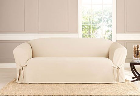Deluxe Comfort Loveseat Furniture Cover With Arms Sanitized
