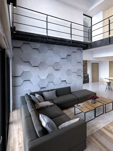 large metal hexagons photo wallpaper wall mural for living room