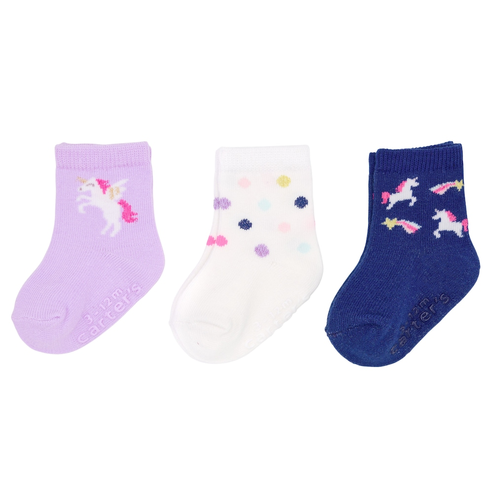 Babies 3 Pack of Unicorn Design Socks
