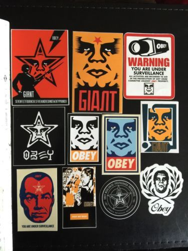 Art rare authentic obey giant shepard fairey stickers old school andre the giant please retweet
