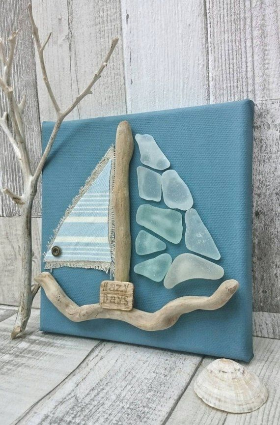{sea glass wall decor|beach glass art for sale|sea glass art images|how to make sea glass window art #elephantitems