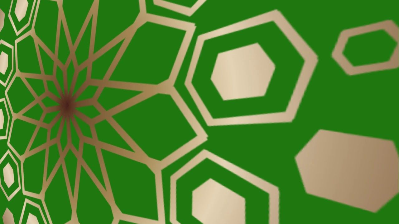 خلفية اسلامية زخرفة كروما خضراء للمونتاج Islamic Video Hd Background Pdf Books Art Gaming Logos