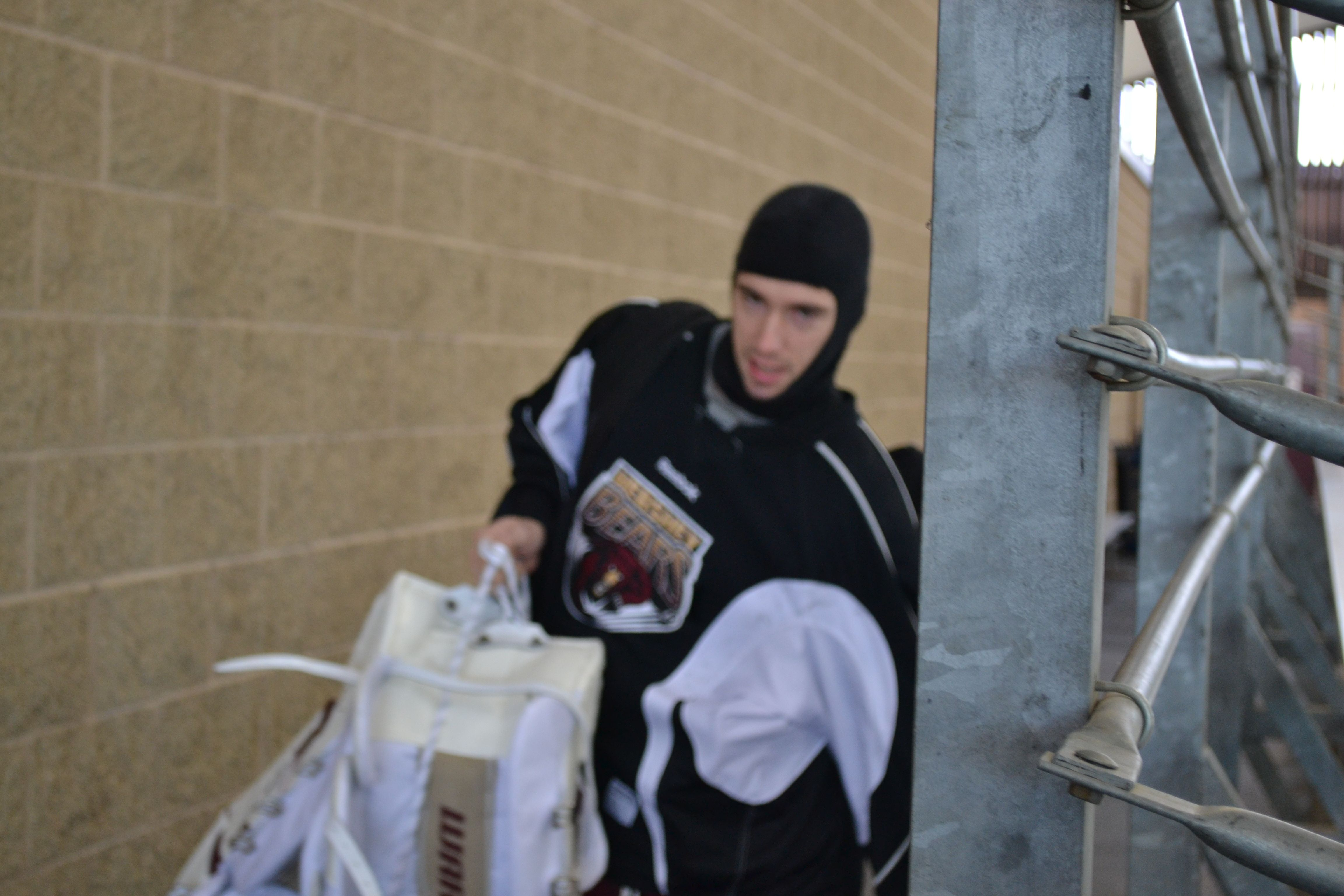 Hershey Bears goalie Dany Sabourin dressed for openair