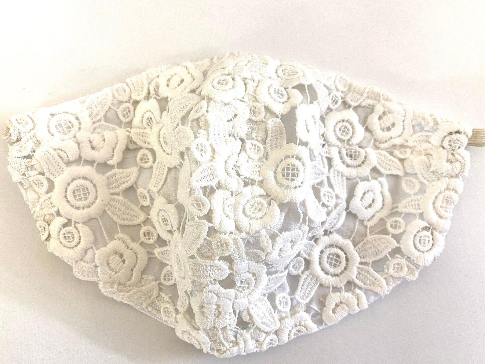 Daisy Lace Face Mask Lace Wedding Mask Resuable Mask ...