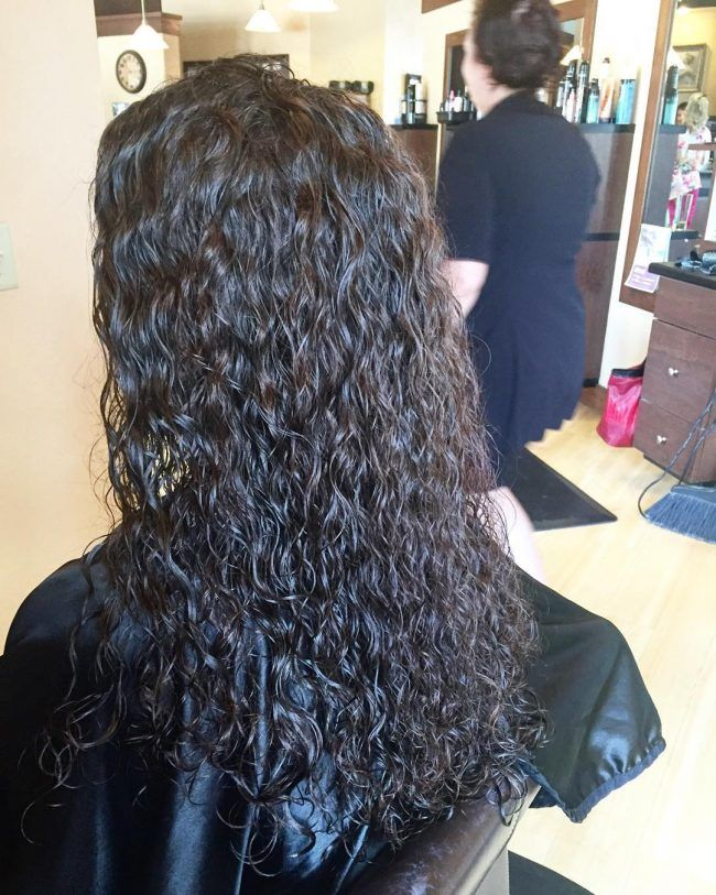 Long And Loose Spiral Perm Curls
