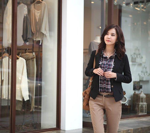 Fancy Korean Style Slim Blazers : Tidebuy.com