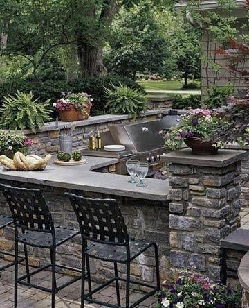 Seatin by the outdoor bbq area exterior design interior designing garten pinterest rund - Designing barbecue spot outdoor sanctuary ...