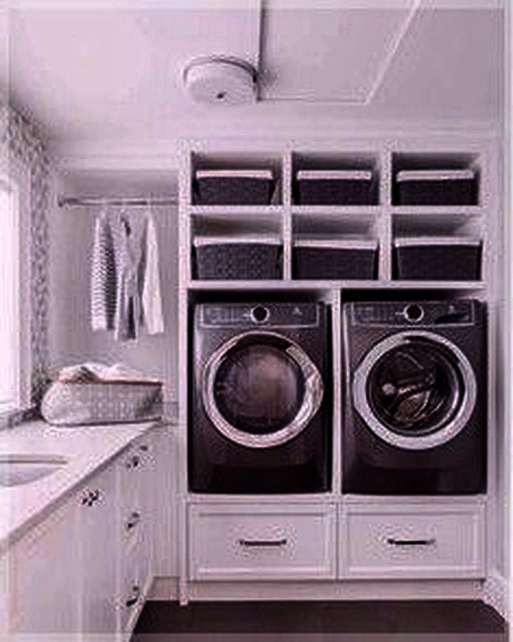 Room Layout Ideas  30 Relaxing Laundry Room Layout Ideas 30 Relaxing Laundry Room Layout Ideas Spacesaving ceilingmounted clothes drying rack with remote control 10 Small...