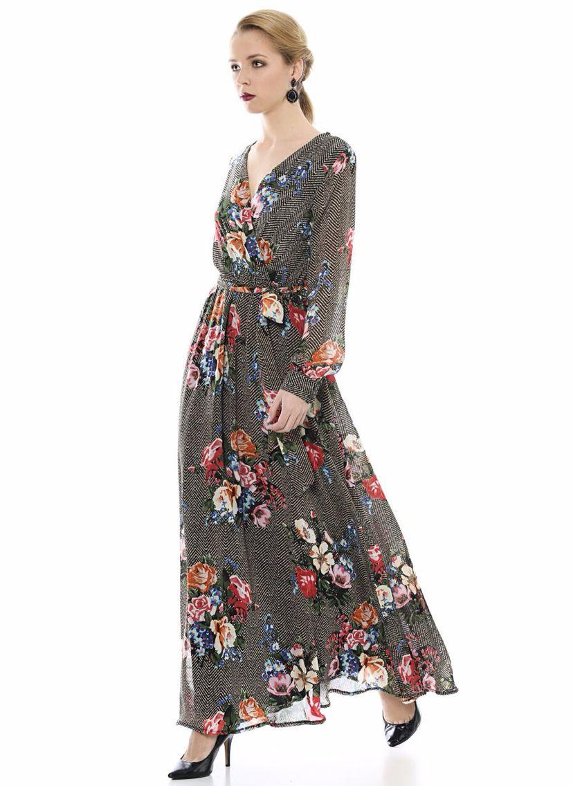 Sifon Elbise Batik Sifon Elbise Kadin Giyim Elbise Modelleri
