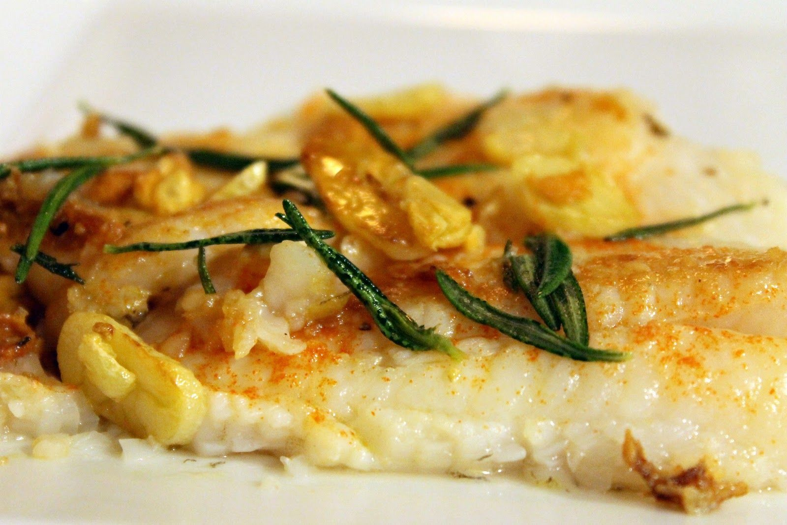 Pan Seared Flounder With Fried Rosemary Amp Garlic Recipe