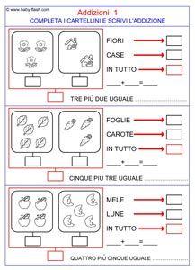 scheda addizioni | Schede didattiche, Matematica, Schede ...