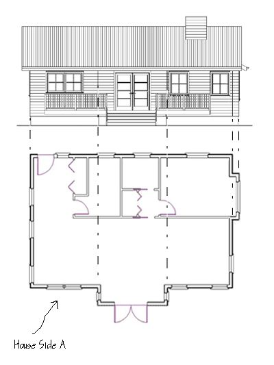 How To Draw Elevations From Floor Plans Elevation Drawing Floor Plans House Plans