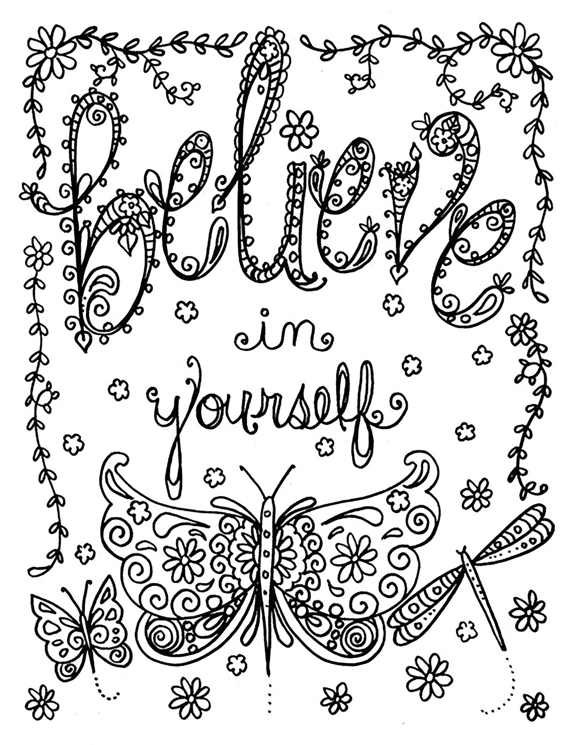Be Brave Adult Coloring Book To Relieve Stress And Create Self Worth Deborah