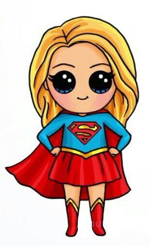 Supergirl Bydraw So Cute Desenhos Kawaii Unicornio