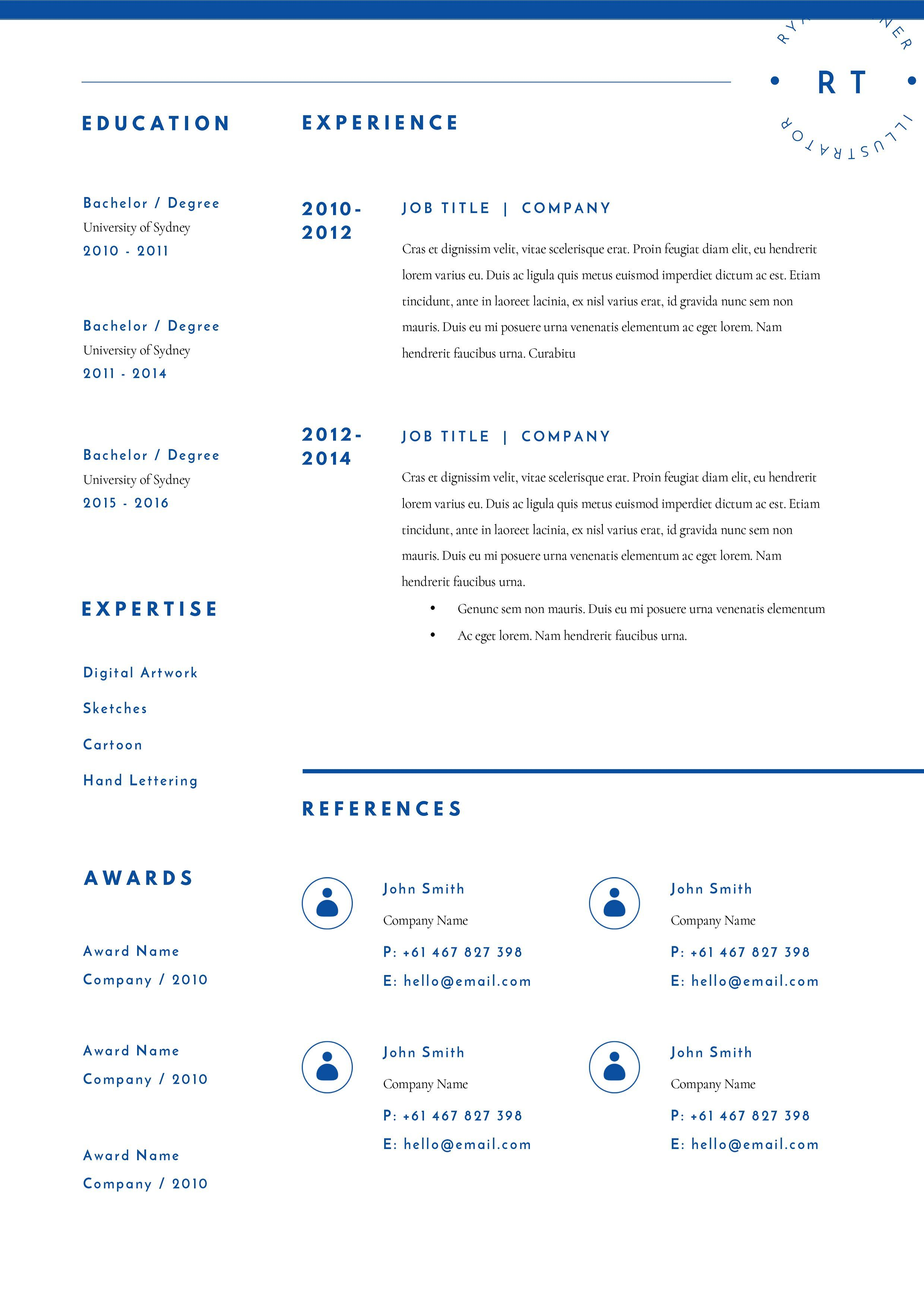 Resume Template 3 Page CV Template #includes#quick ...