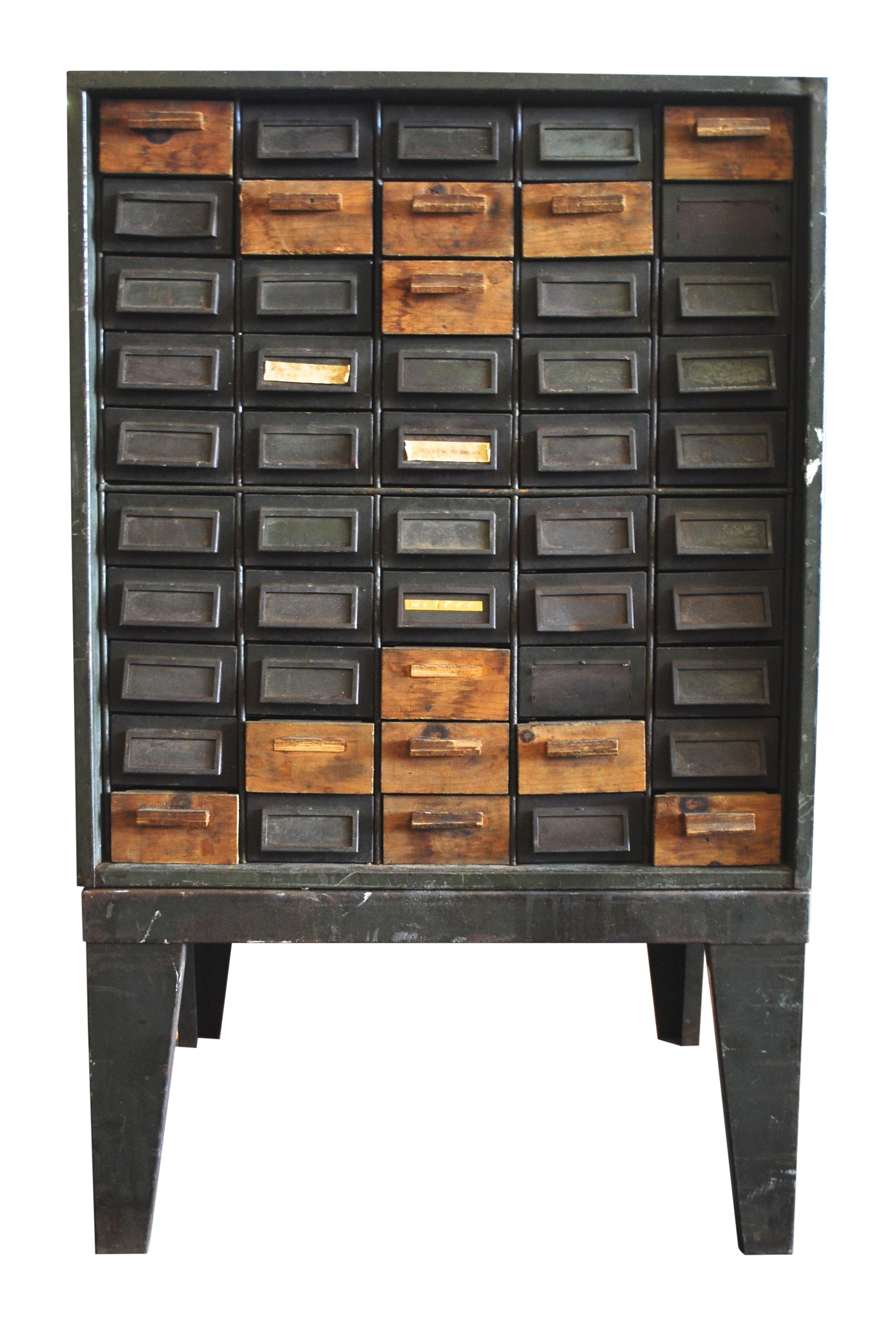 This Awesome Industrial Metal Small Parts Storage Cabinet With 50 Small Drawers Craft Storage Cabinets Vintage Industrial Furniture Vintage Industrial Small storage cabinet with drawers