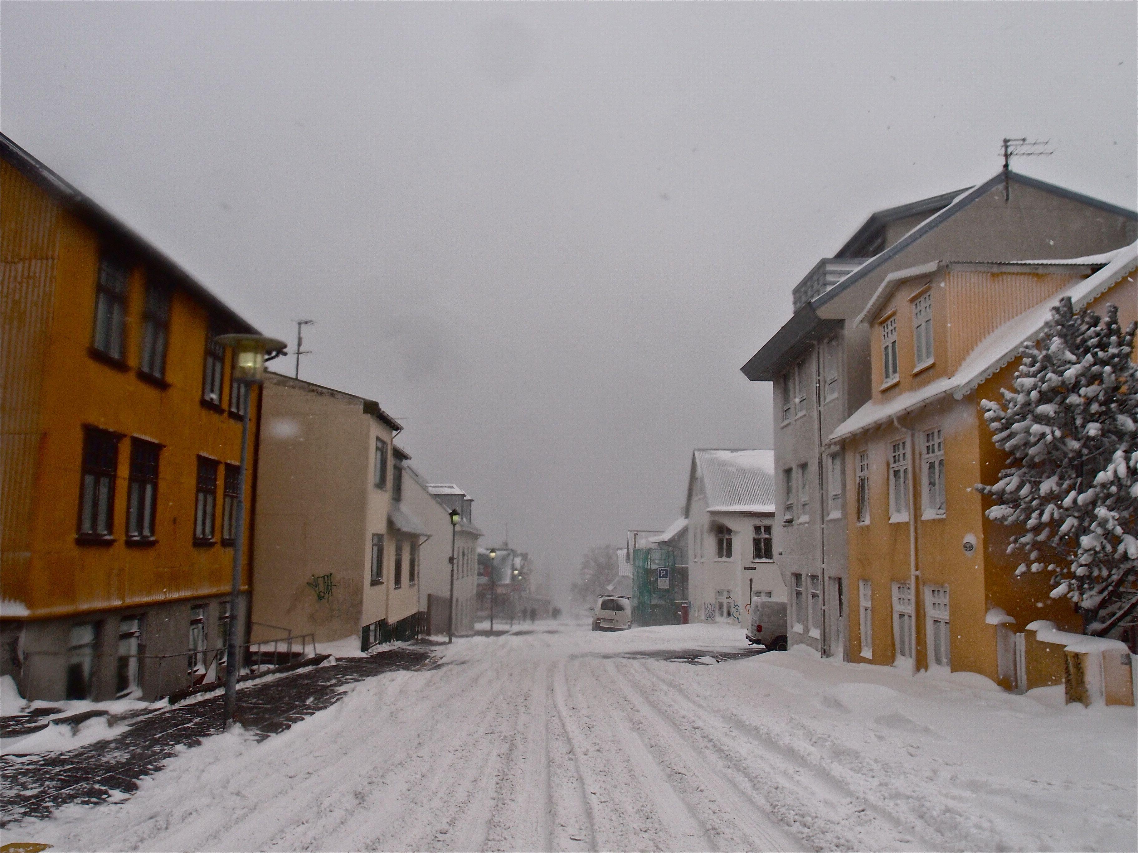 Reykjavik streets covered in snow! Icelandic design