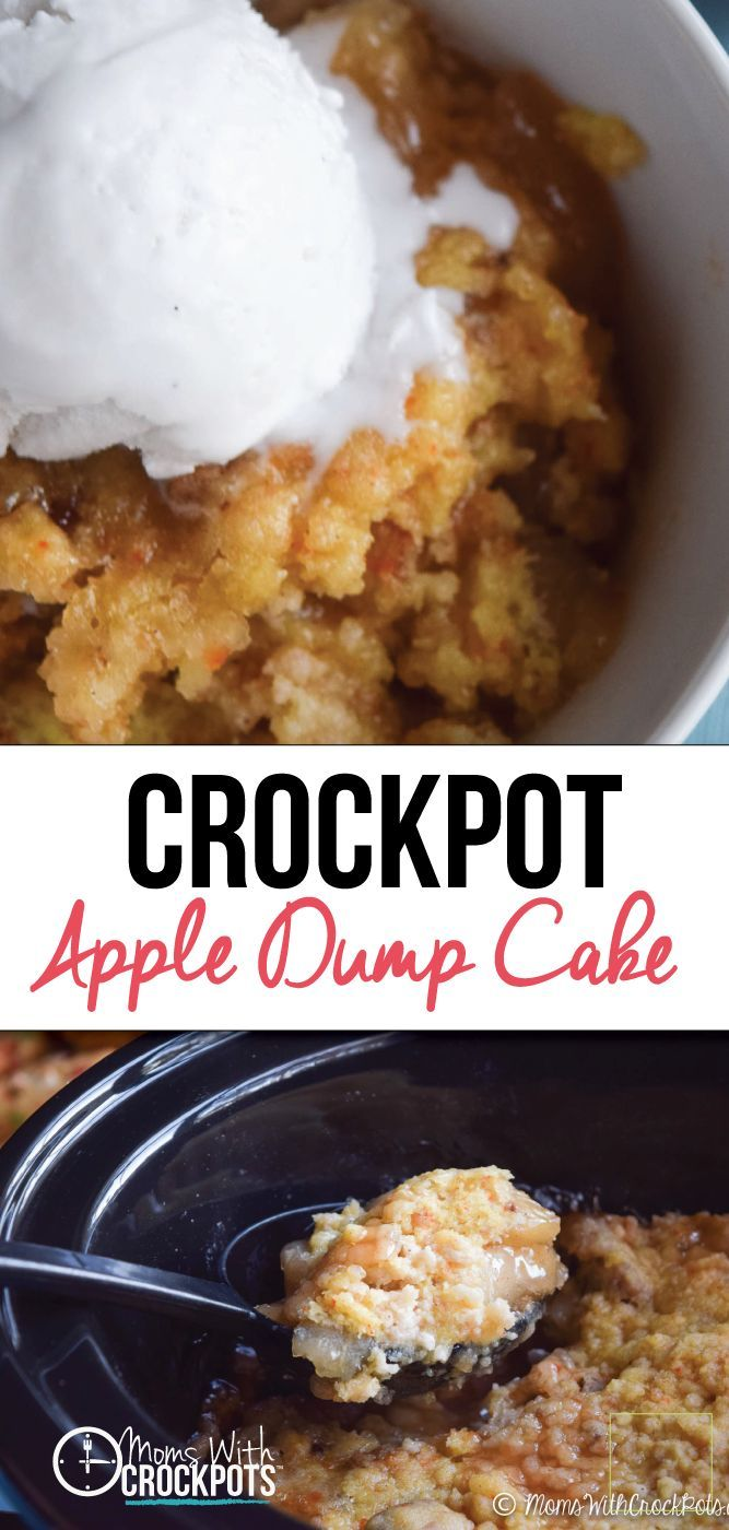 3 Ing Slow Cooker Apple Dump Cake Yellow Mi And Pie
