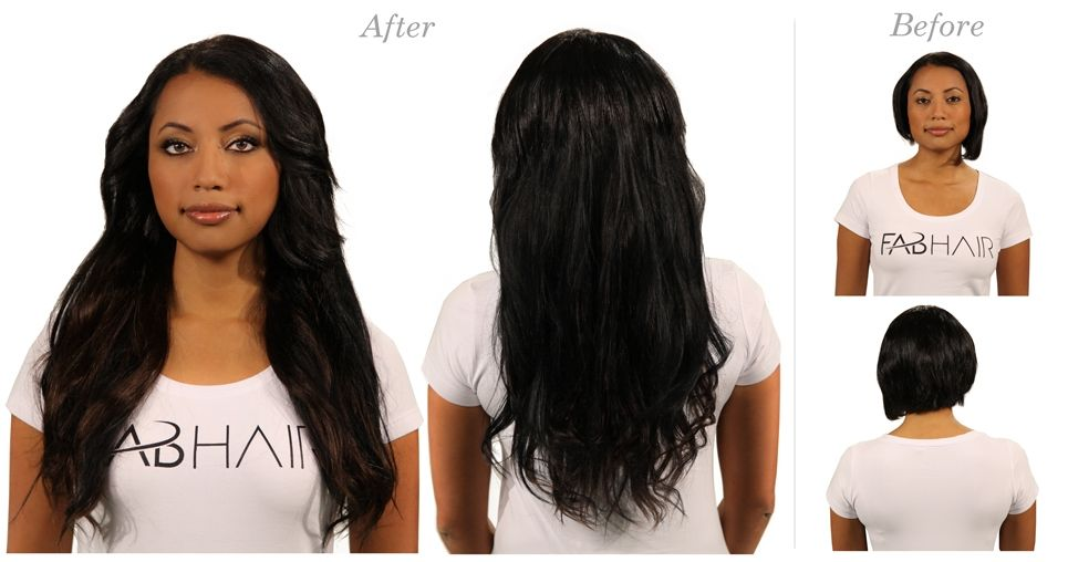 Before N After 1 Pure Black Hairextensionsremyhairhairstyles