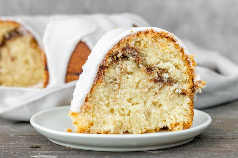 Cinnamon swirl sour cream cake recipe breakfast coffee