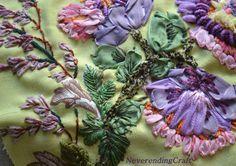 Fleurs brodées - ribbon embroidery NeverendingCraft
