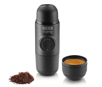 Wacaco Minipresso GR, Portable Espresso Machine, Compatible Ground Coffee, Hand Coffee Maker, Travel