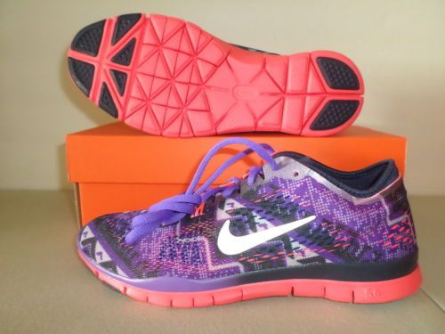 New-Womens-Nike-Free-5-0-Tr-Fit-4-PRT-Navy-Punch-Grape-Shoes-sz-9-5