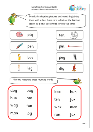 free english worksheets for year 1 places to visit rhyming words rhyming pictures words. Black Bedroom Furniture Sets. Home Design Ideas