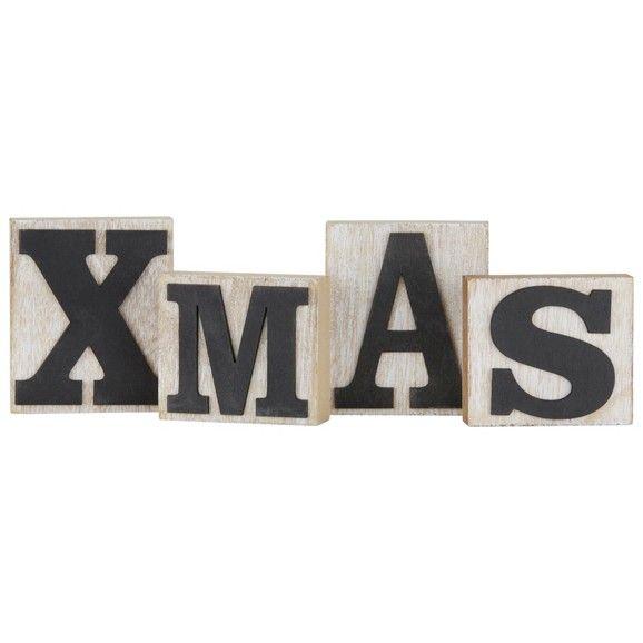 Dekobuchstaben in Holz - für ein weihnachtliches Ambiente