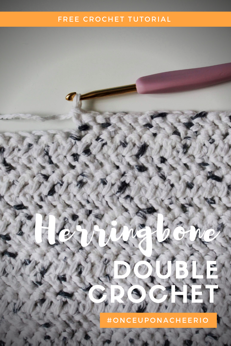 How to Crochet the Herringbone Double Crochet Stitch #crochetstitchestutorial