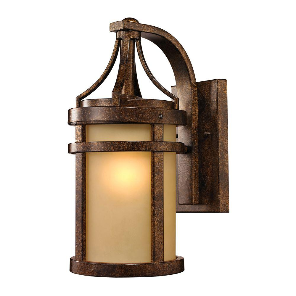 Home garden lights  Cupertino Collection Light Hazelnut Bronze LED Outdoor Sconce