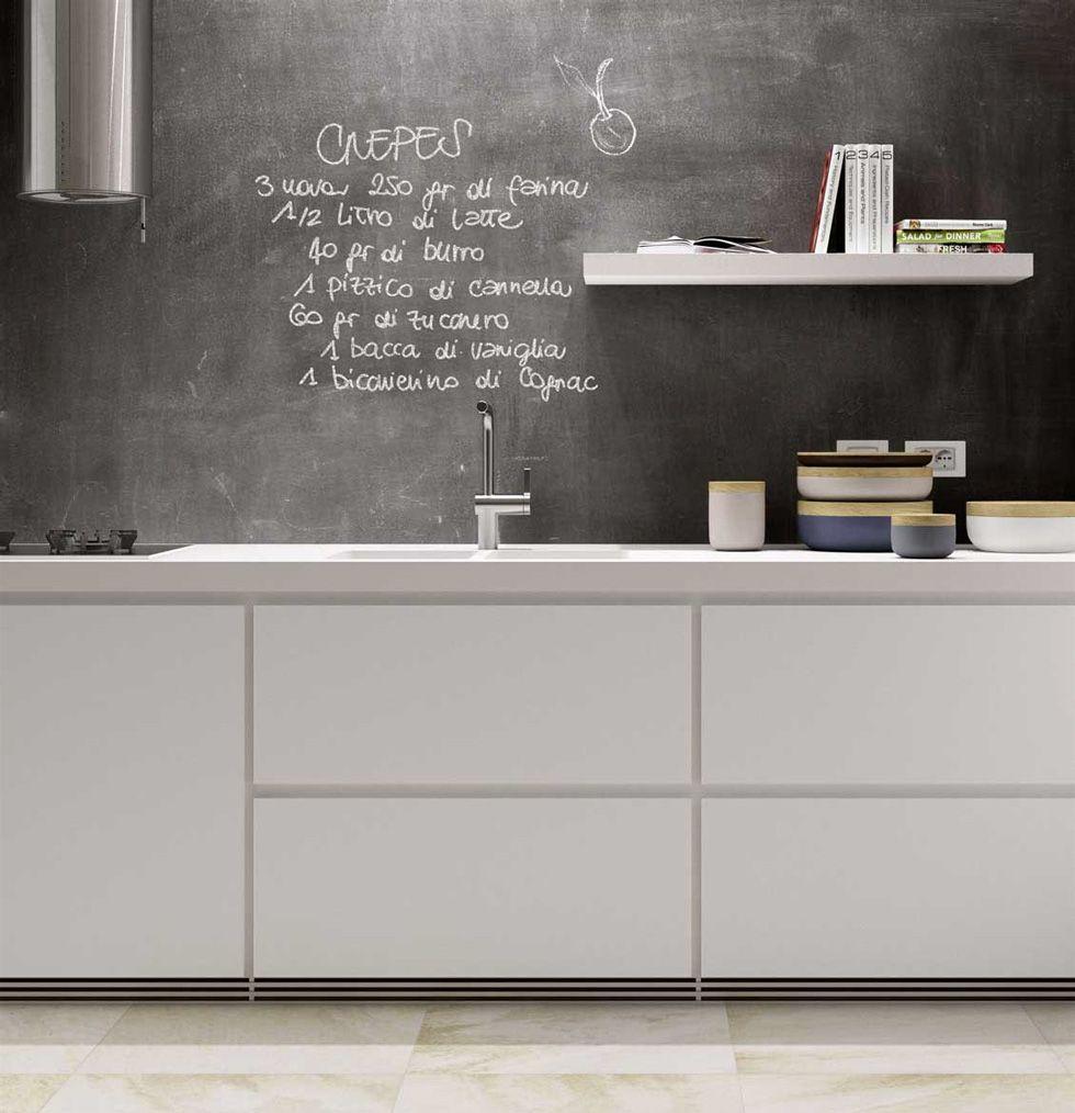 Rivestimenti cucina guida alla scelta dei migliori materiali cucina moderna cemento e nero - Idee rivestimento cucina ...
