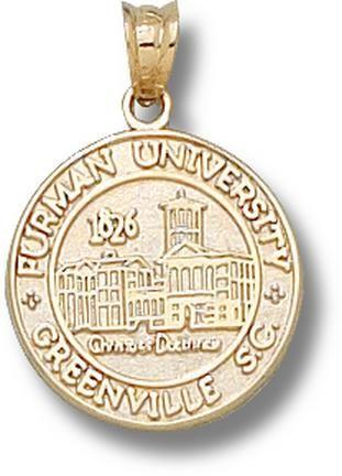 Furman Paladins New Seal Pendant 10KT Gold Jewelry Jewelry