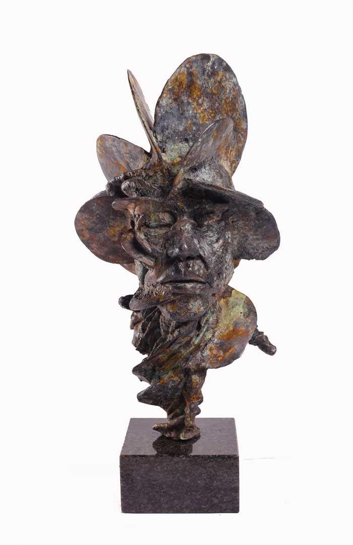 FAN CORAL HEAD Sculpture art, modern art sculpture, sculpture clay