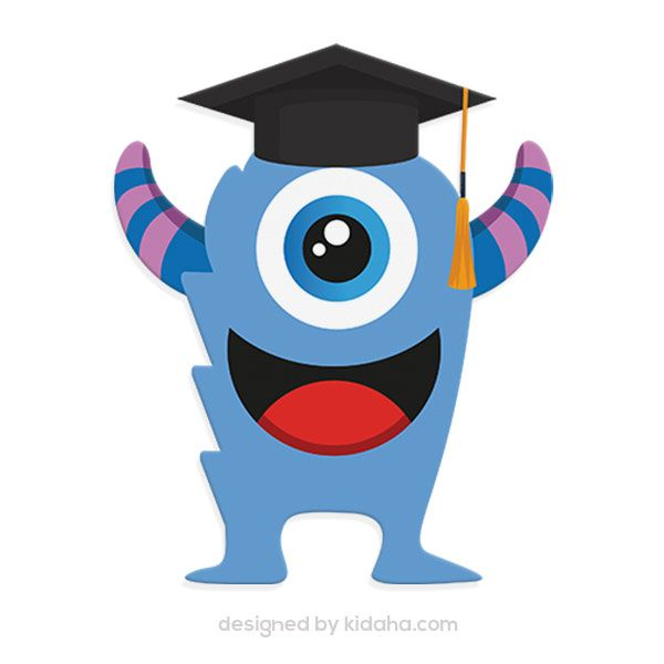 ID M232 Monster Student Free Education Clip Arts For Kids Parents And Teachers