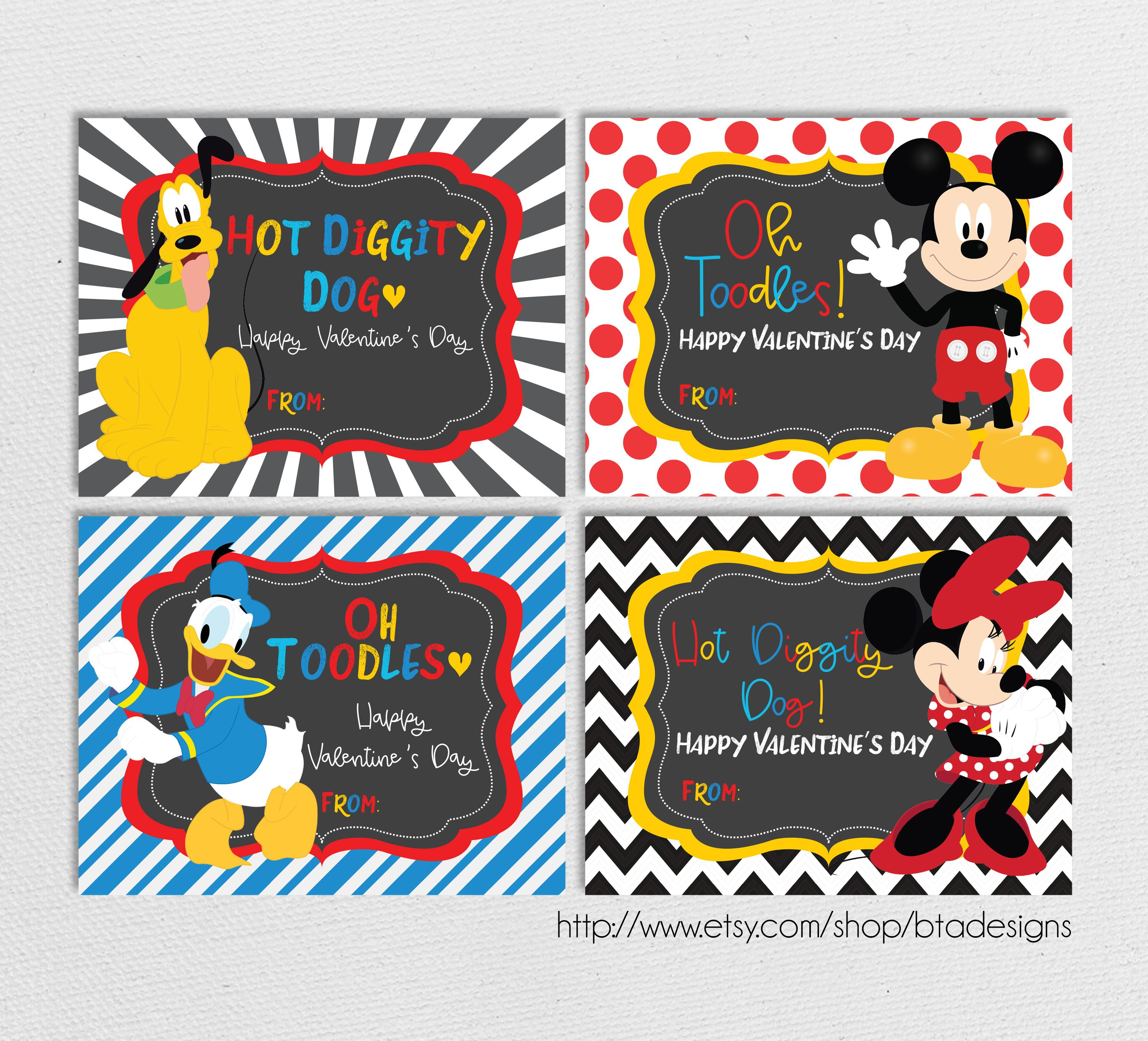 Printable Mickey And Friends Valentine Cards In 2020 Valentines Cards Valentine S Cards For Kids Printable Valentines Day Cards