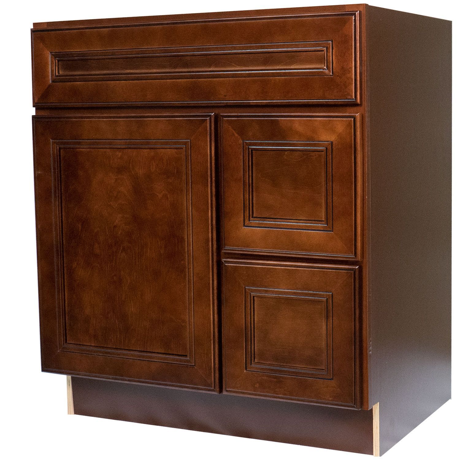 30 Inch Bathroom Vanity Single Sink Cabinet in Leo Saddle ...