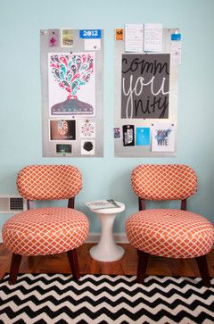 Graphic Designer's home office eclectic-home-office