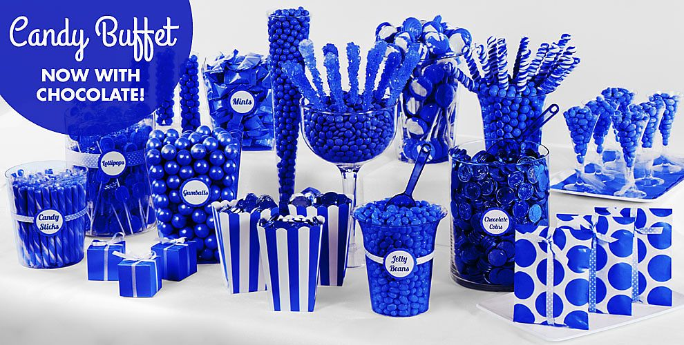royal blue candy buffet supplies royal blue candy containers party city